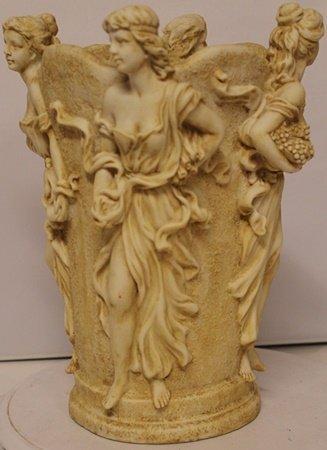 4 Women - Old World Antique Bisque Sculpture