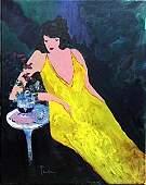 Yellow Dress - Oil on Canvas - Tarkay