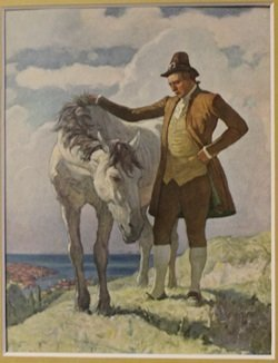 Pilgrim and Pony - Lithograph - by Weyth