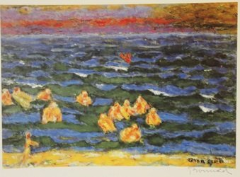On the lake  - Signed Lithograph - By Bonnard