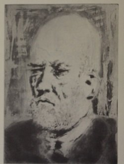 Old man - Lithograph - by picasso