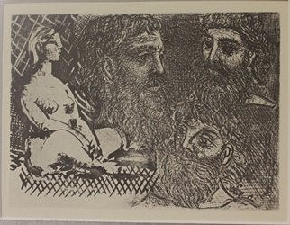 Nude, Studies of Head - Picasso