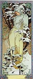 The Season: Winter - Lithograph by Alphonse Mucha