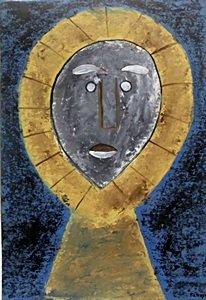 Cabeza De La Virgen - Oil on Paper - R. Tamayo