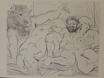 Drunken Minotaur 1933 Lithograph - picasso