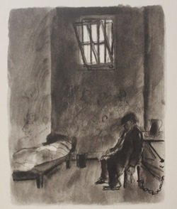 Jail house drawings - Lithograph- by lamb