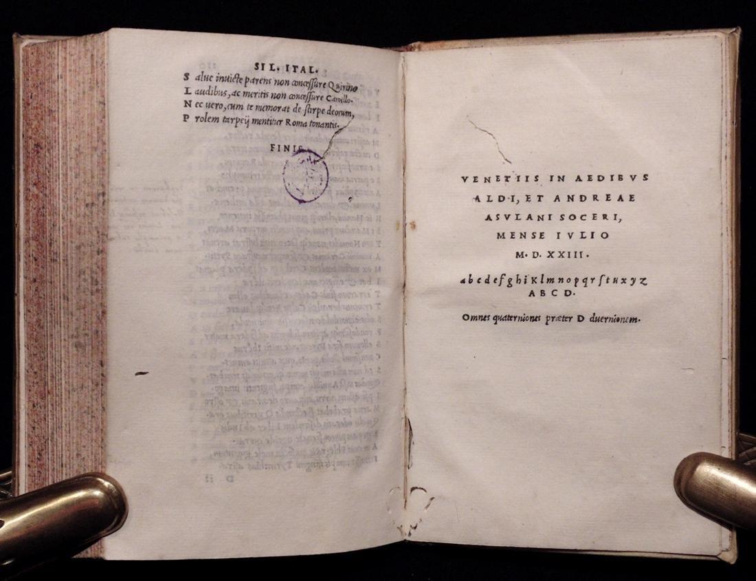 [Aldine Press]  Silius Italicus. De Bello Punico…. - 9