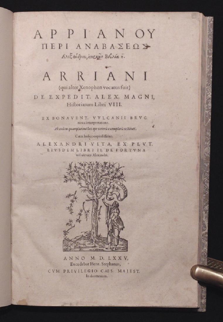 Arrianus, Flavius.  Historiarum Libri VIII, 1575