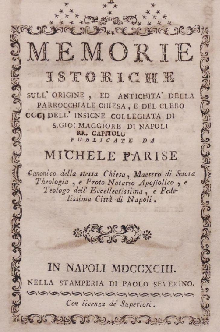 [Crusades, Naples History]  Pair of 18th c. works