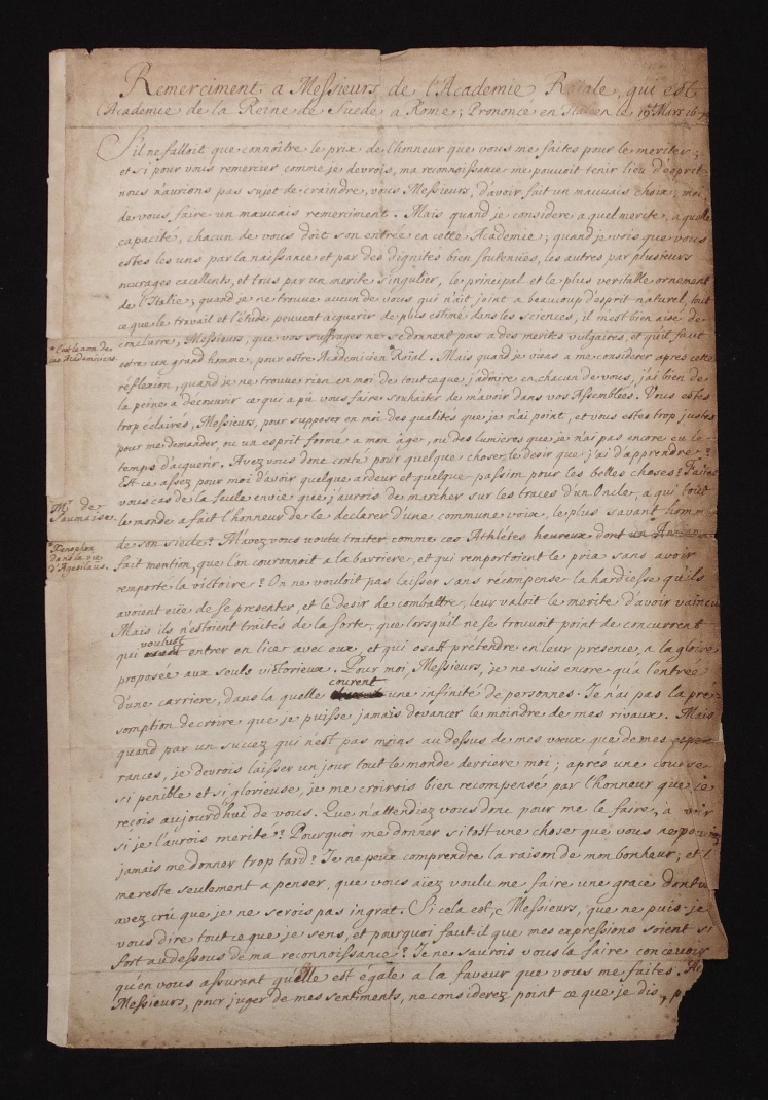 Charles-Caton De Court Manuscript