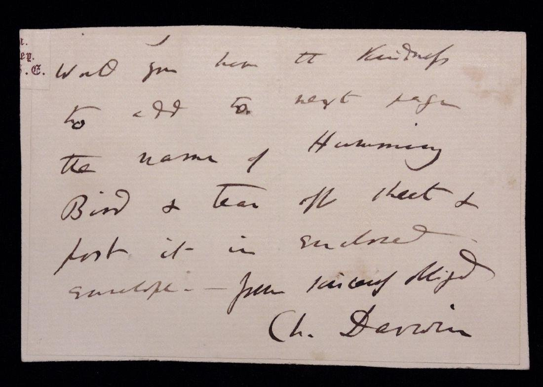 [Charles Darwin]  Autograph Letter Signed