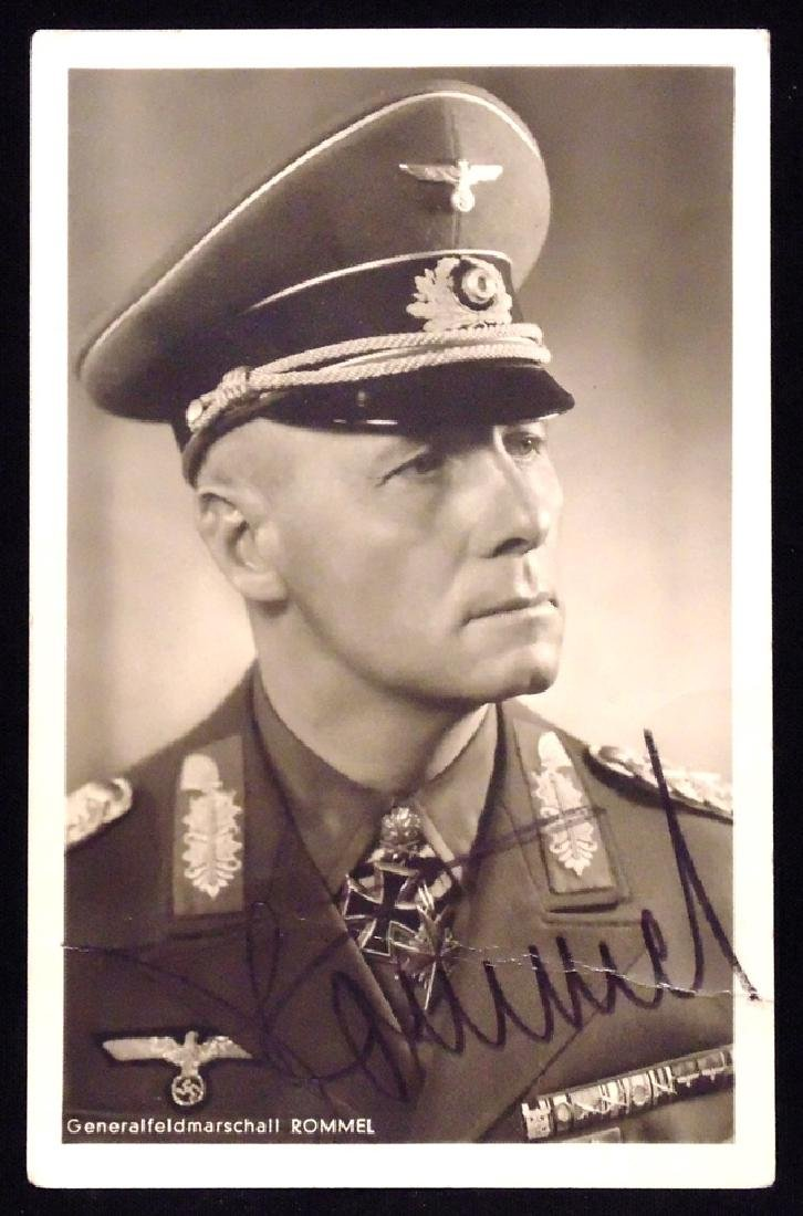 Erwin Rommel, Signed Photo/Postcard