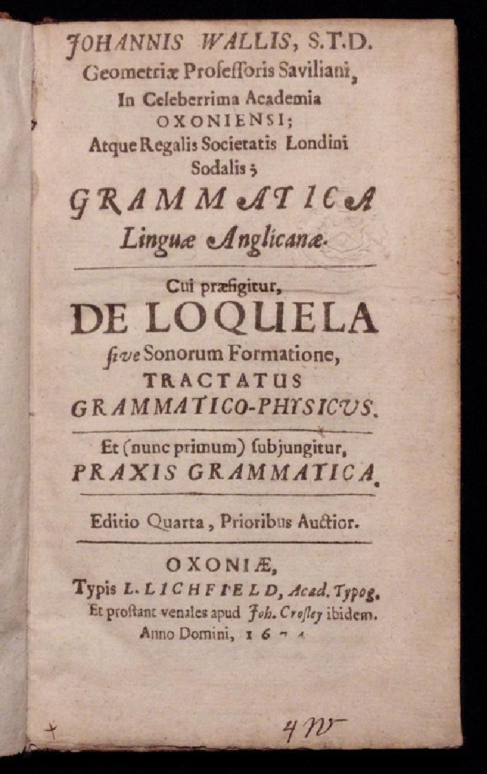 John Wallis on English Grammar & Etymology
