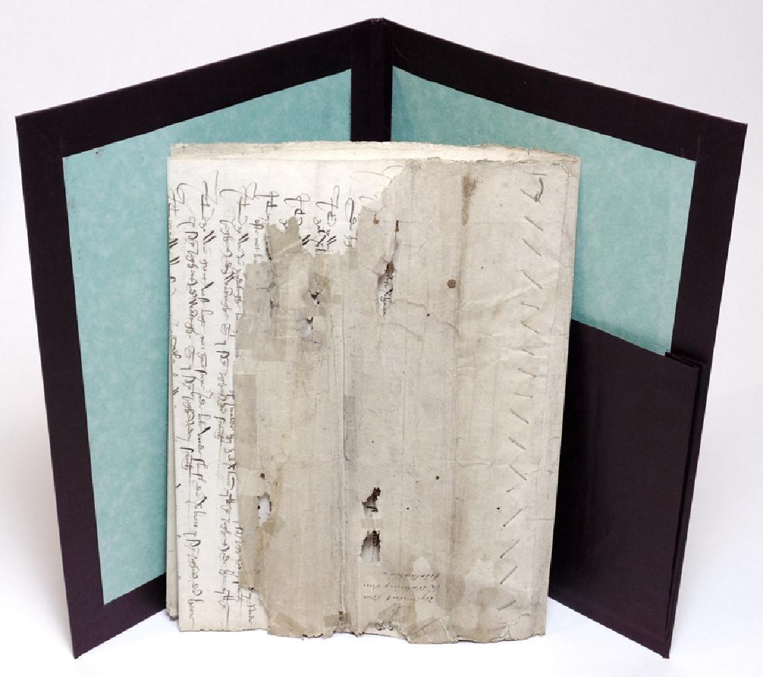 [15th c. Dutch Flood Management]  Manuscript