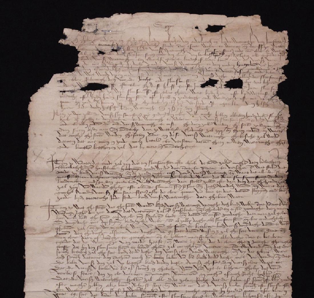 [15th c. Dutch Flood Management]  Manuscript - 2