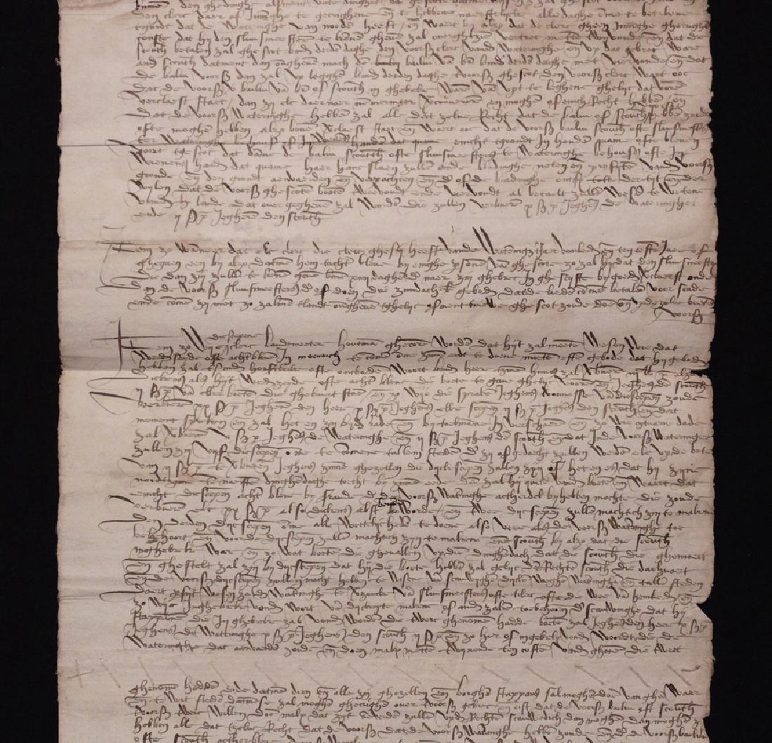 [15th c. Dutch Flood Management]  Manuscript - 3