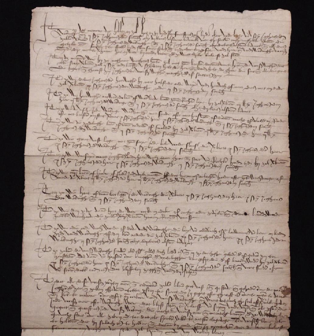 [15th c. Dutch Flood Management]  Manuscript - 5