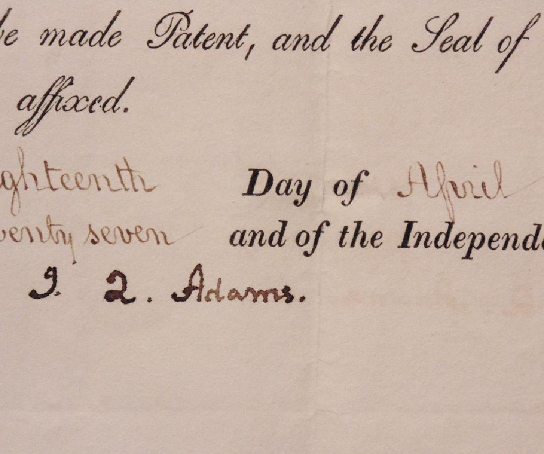 Adams, John Quincy.  Signed Appointment