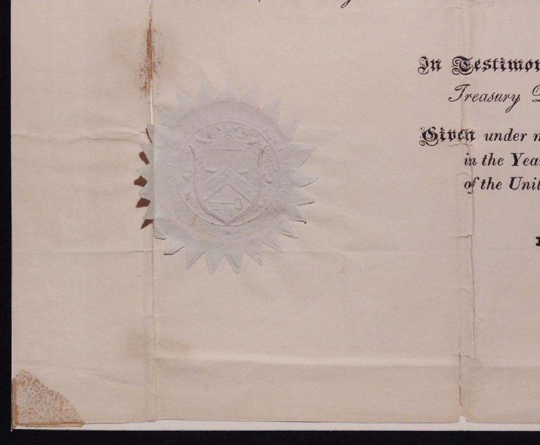 Adams, John Quincy.  Signed Appointment - 4