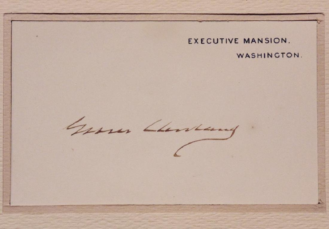 Cleveland, Grover.  Signed Card