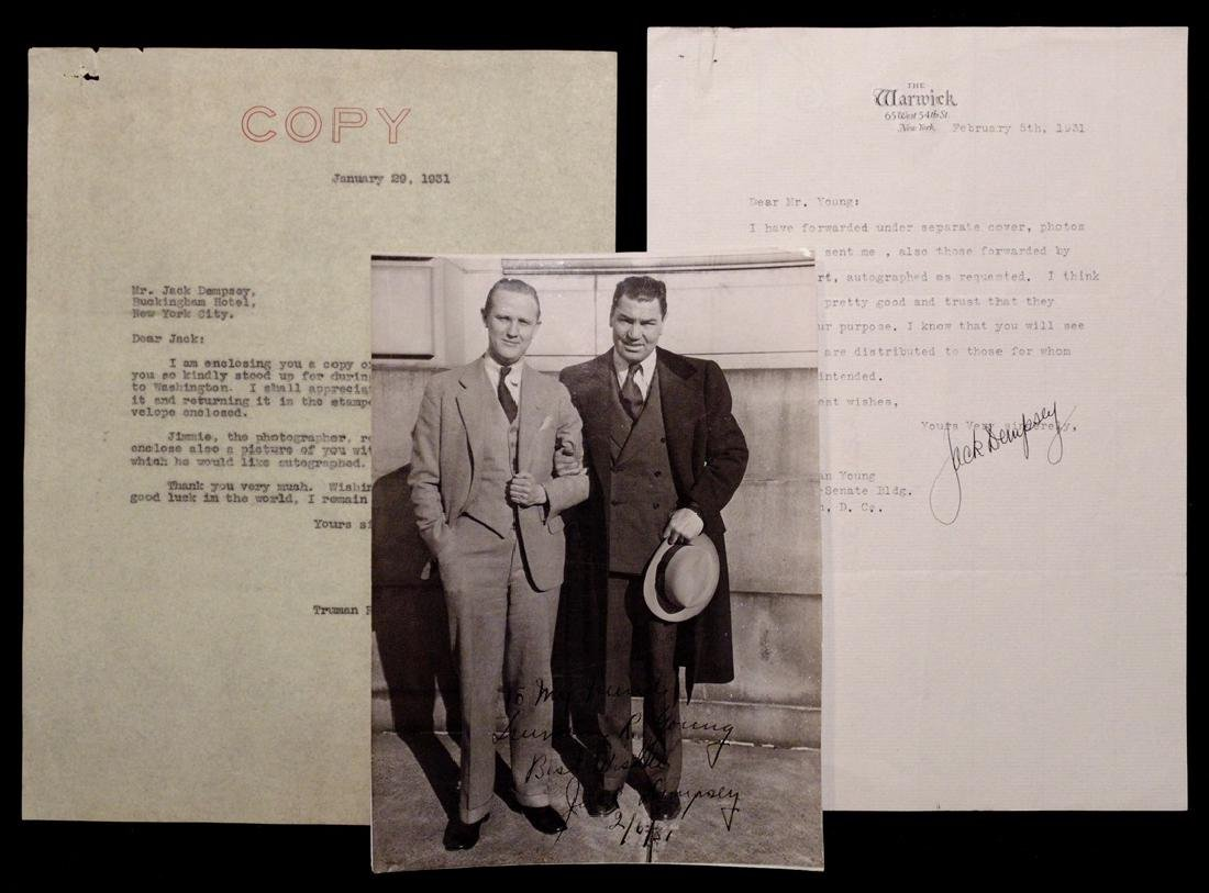 [Jack Dempsey, Am. Boxer]  Signed Photo & Letter