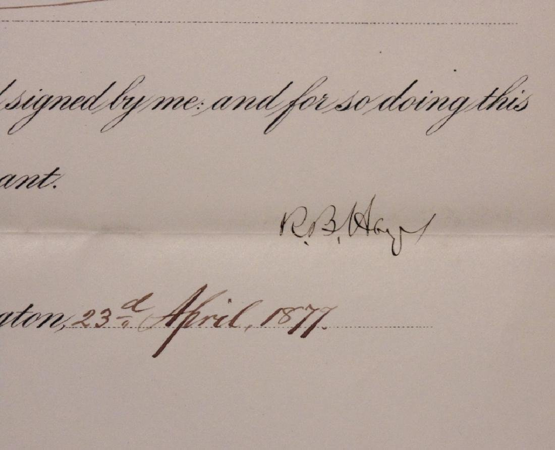 Hayes, Rutherford B.  Signed Document - 2