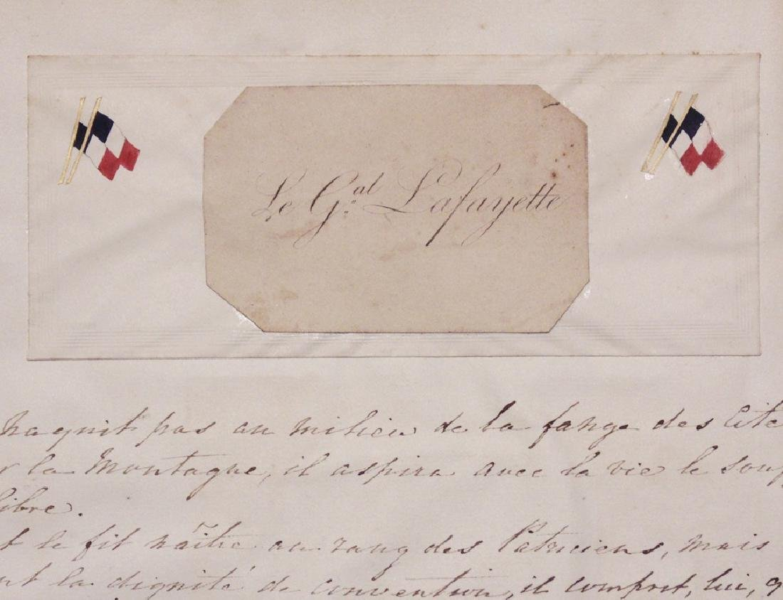 Lafayette, Calling Card and Manuscript Letter