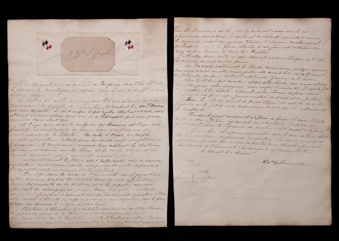 Lafayette, Calling Card and Manuscript Letter - 2