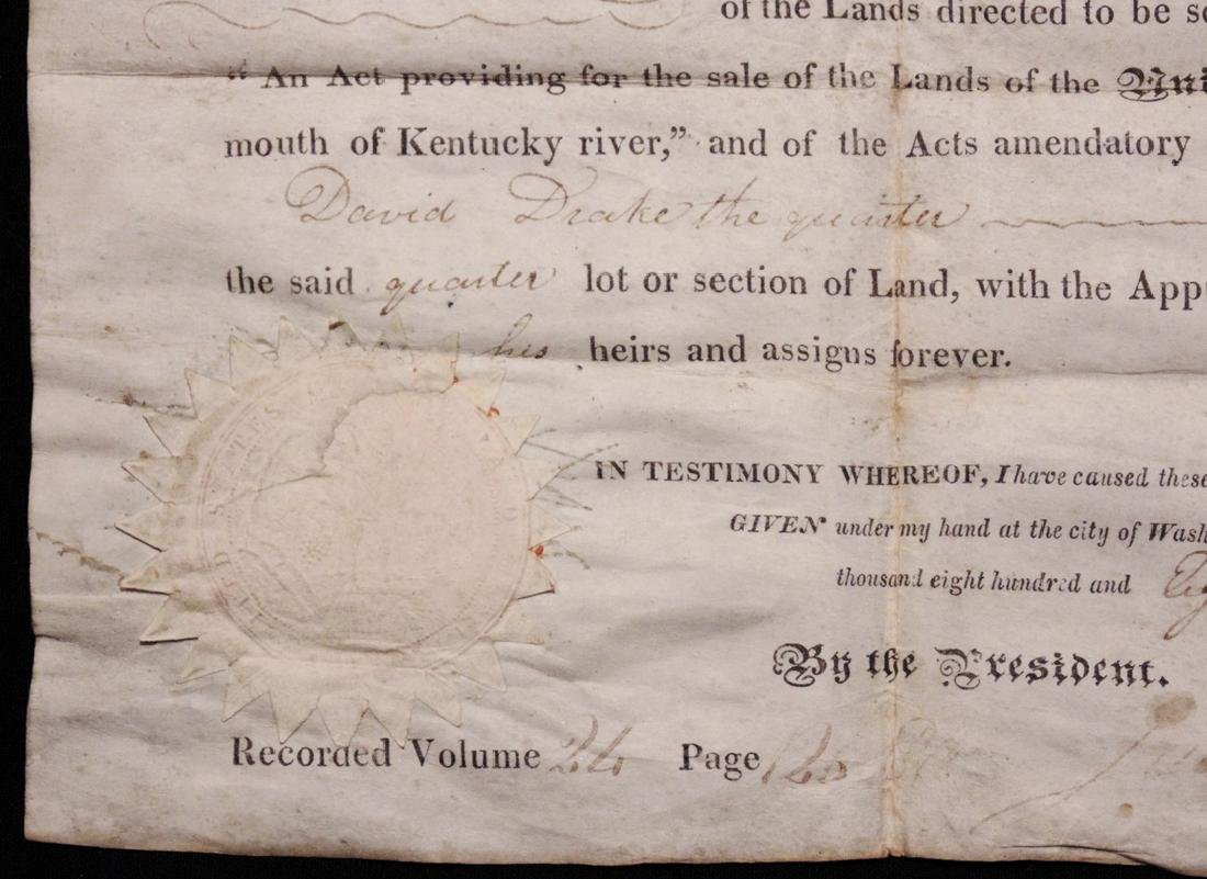 Monroe, James.  Signed Land Grant - 3
