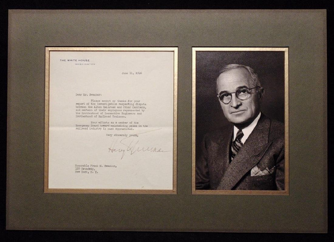 Truman, Harry.  Typed Letter Signed