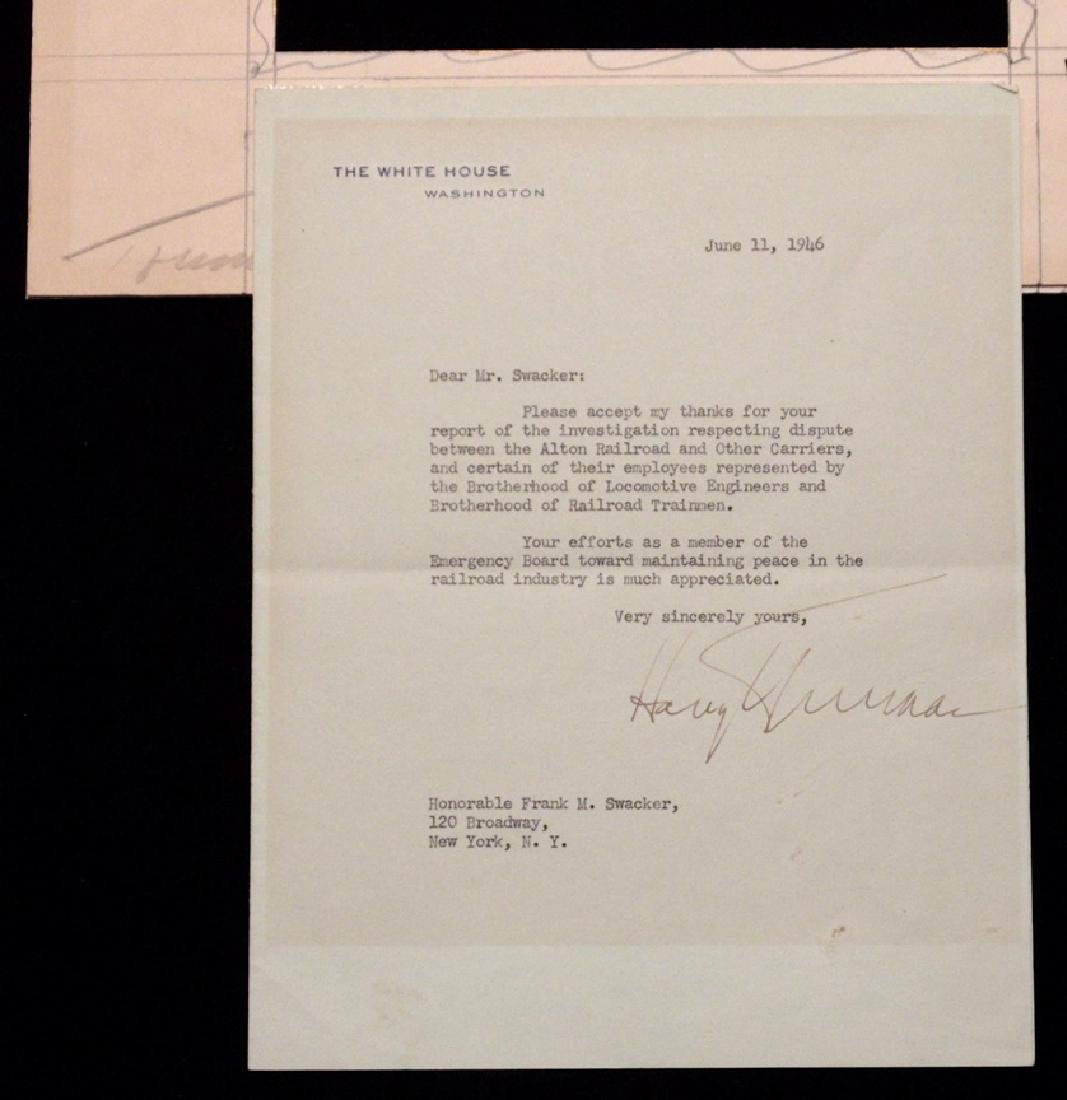 Truman, Harry.  Typed Letter Signed - 2