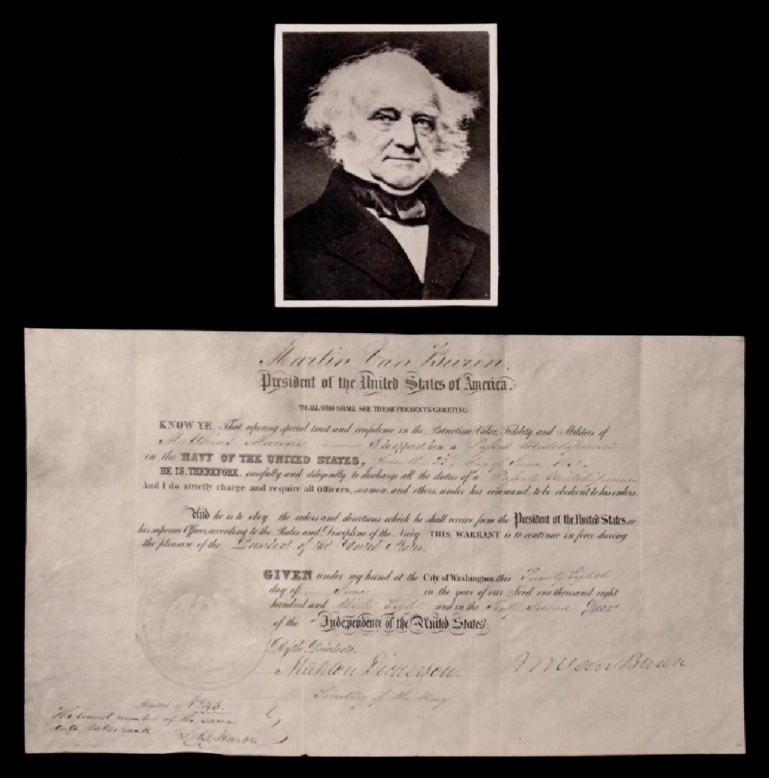 Van Buren, Martin.  Signed Appointment
