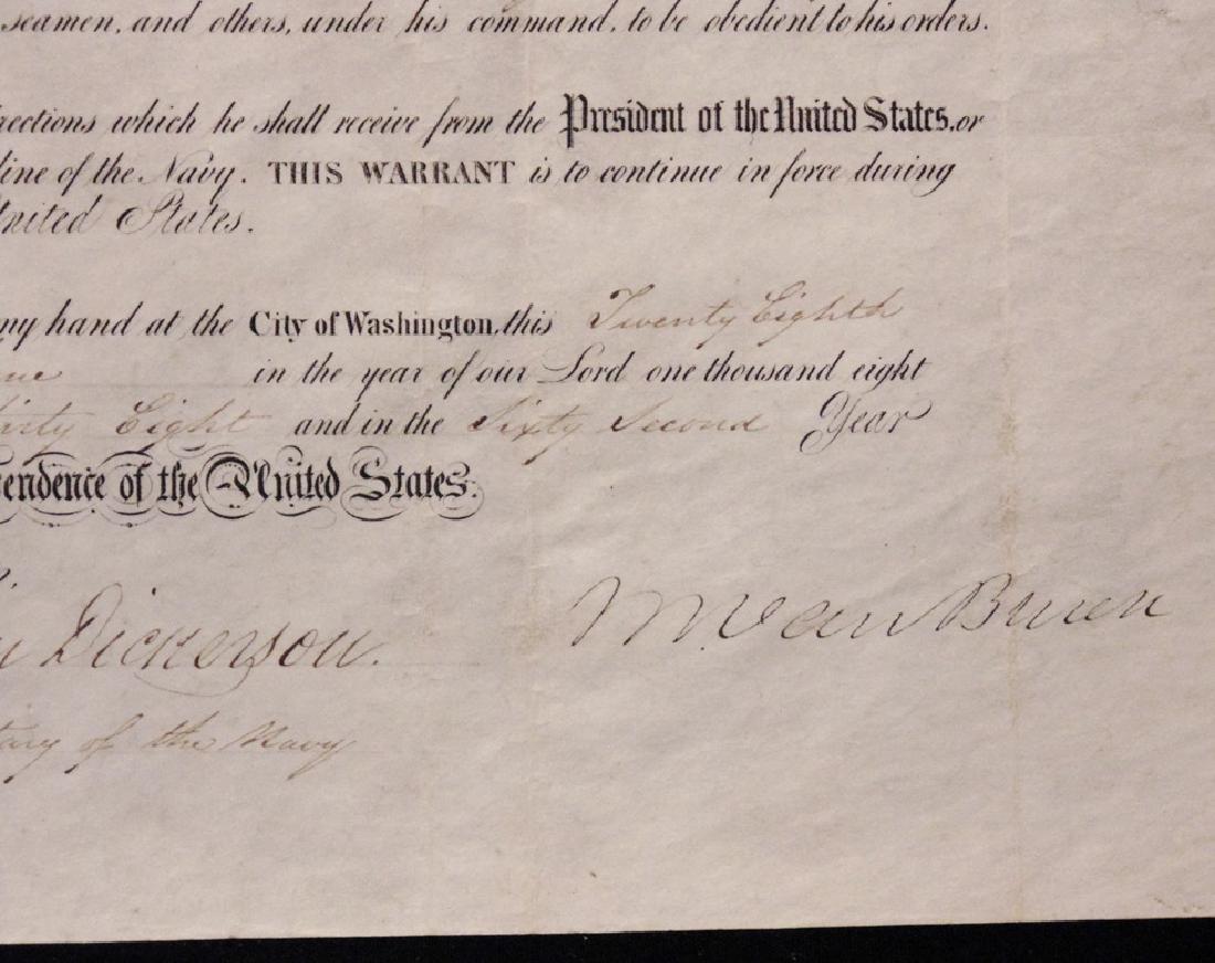 Van Buren, Martin.  Signed Appointment - 3