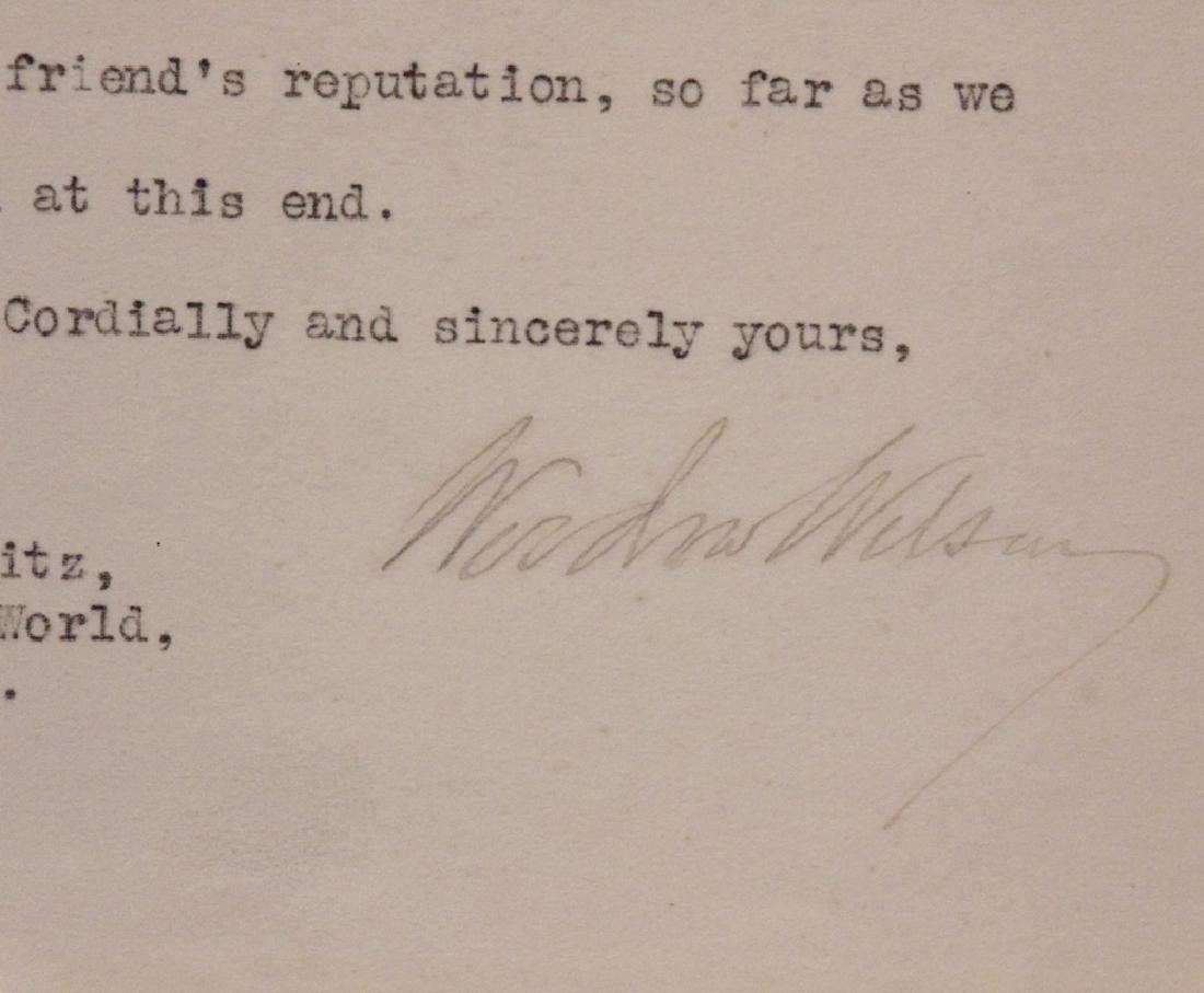 Wilson, Woodrow.  Typed Letter Signed - 2