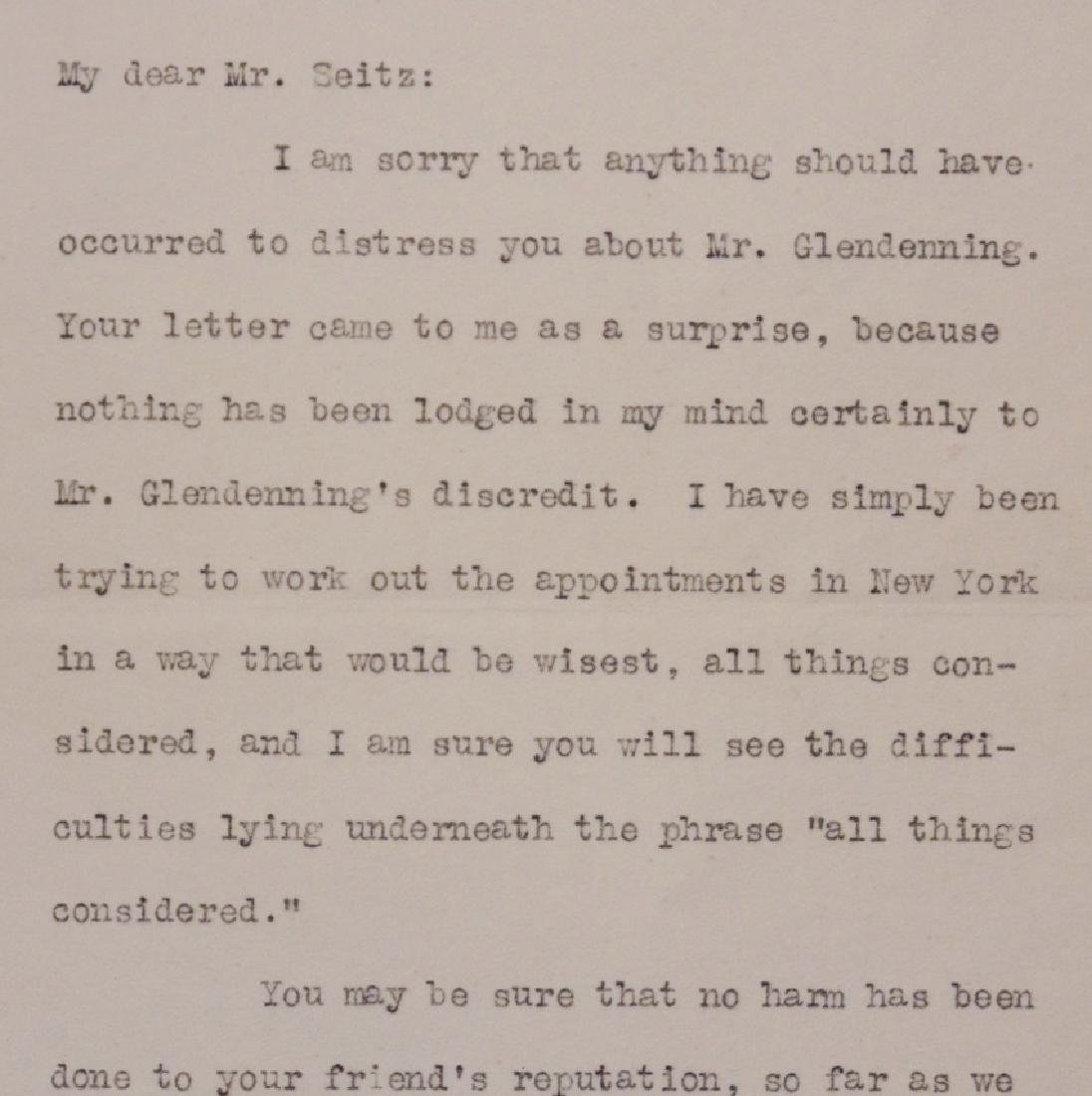 Wilson, Woodrow.  Typed Letter Signed - 3