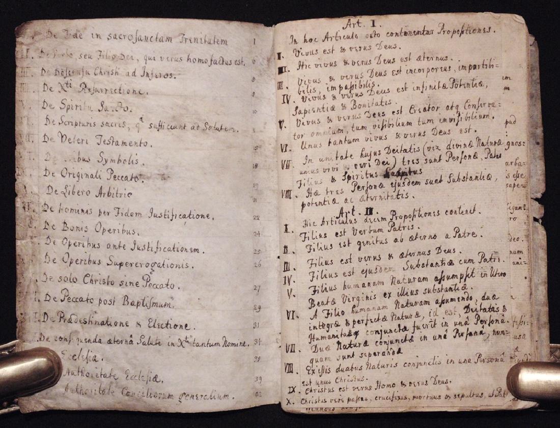 [Articles, Church of England]  Manuscript, ca. 1700 - 4