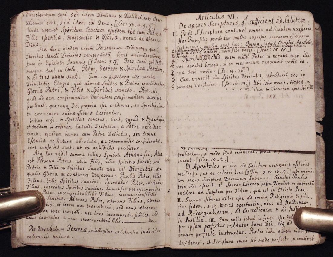 [Articles, Church of England]  Manuscript, ca. 1700 - 5