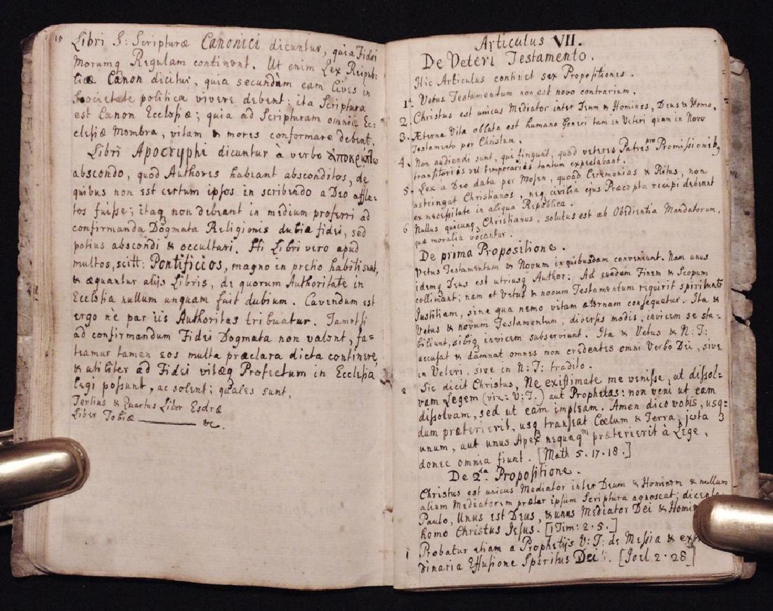 [Articles, Church of England]  Manuscript, ca. 1700 - 6