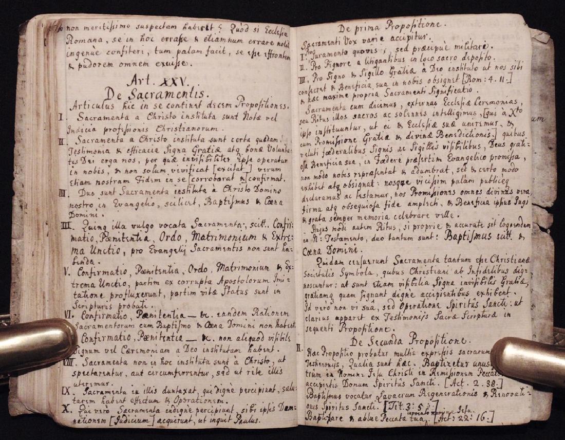 [Articles, Church of England]  Manuscript, ca. 1700 - 7