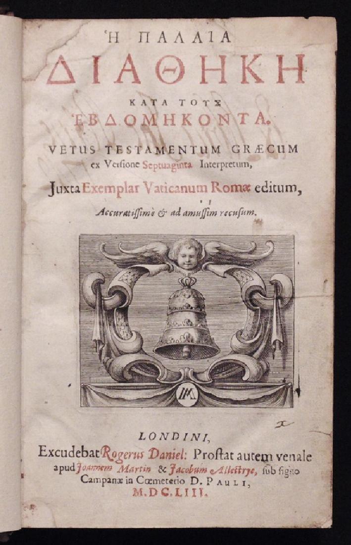 [Bible]  Old Testament in Greek, 1653 - 3