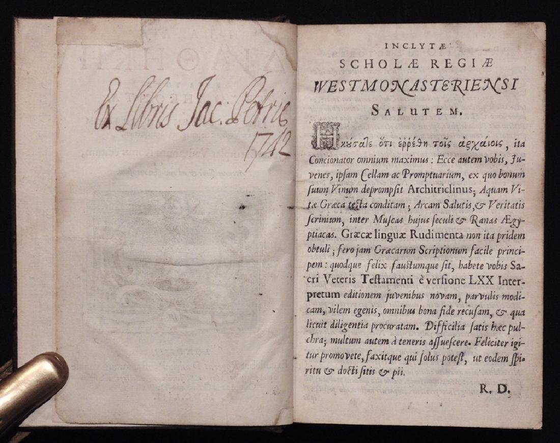 [Bible]  Old Testament in Greek, 1653 - 4