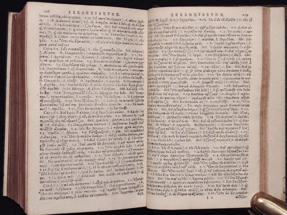 [Bible]  Old Testament in Greek, 1653 - 9