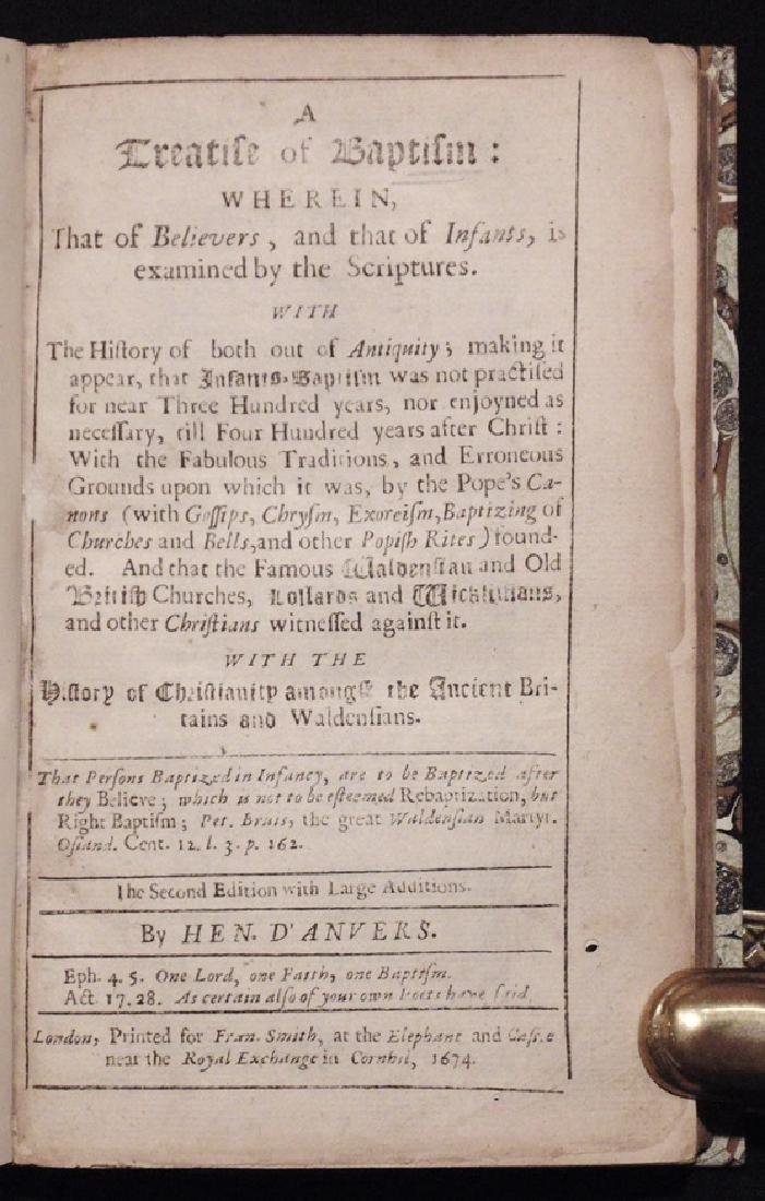 D'Anvers' Treatise of Baptism, 1674 - 3