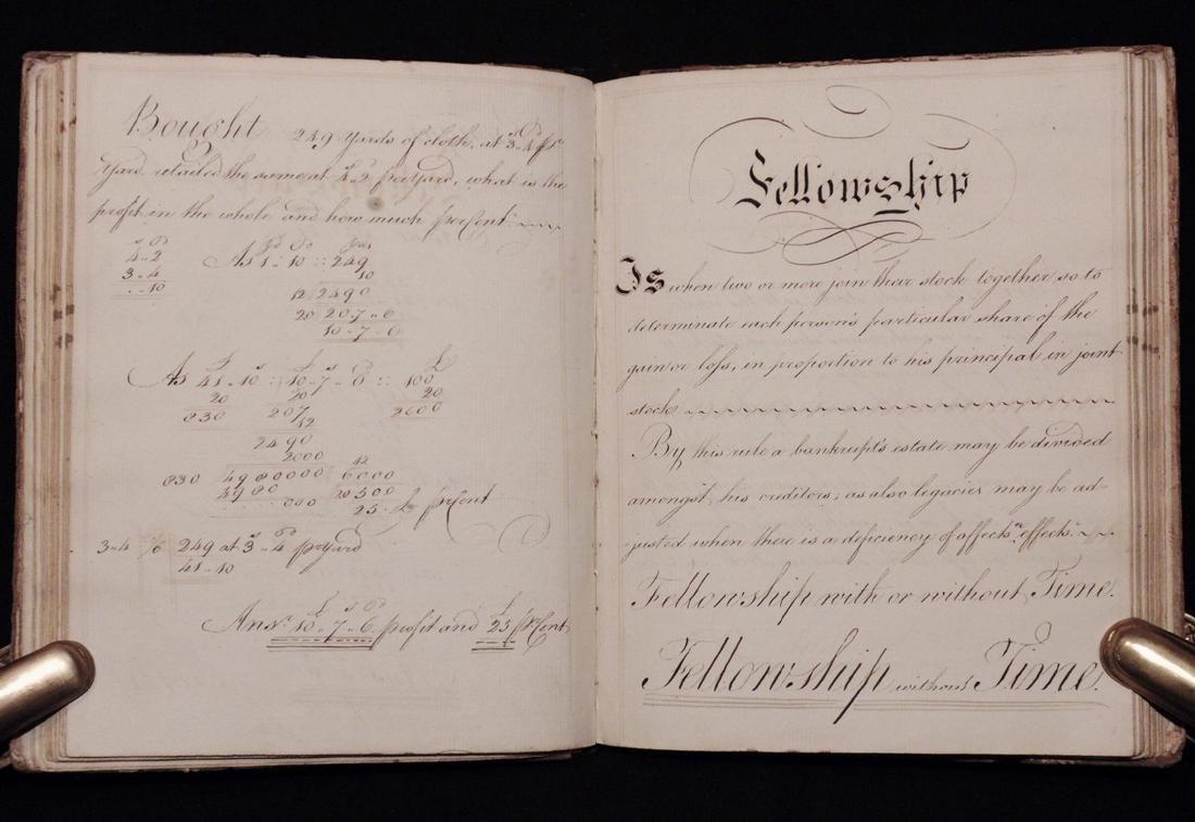 [Business, Arithmetic]  Manuscript, 1797