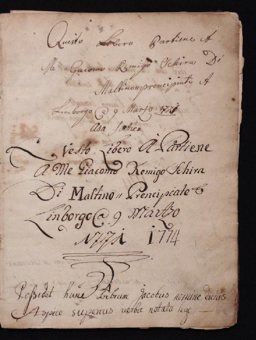 [Mathematics, Wally Schirra]  Manuscript, 1774