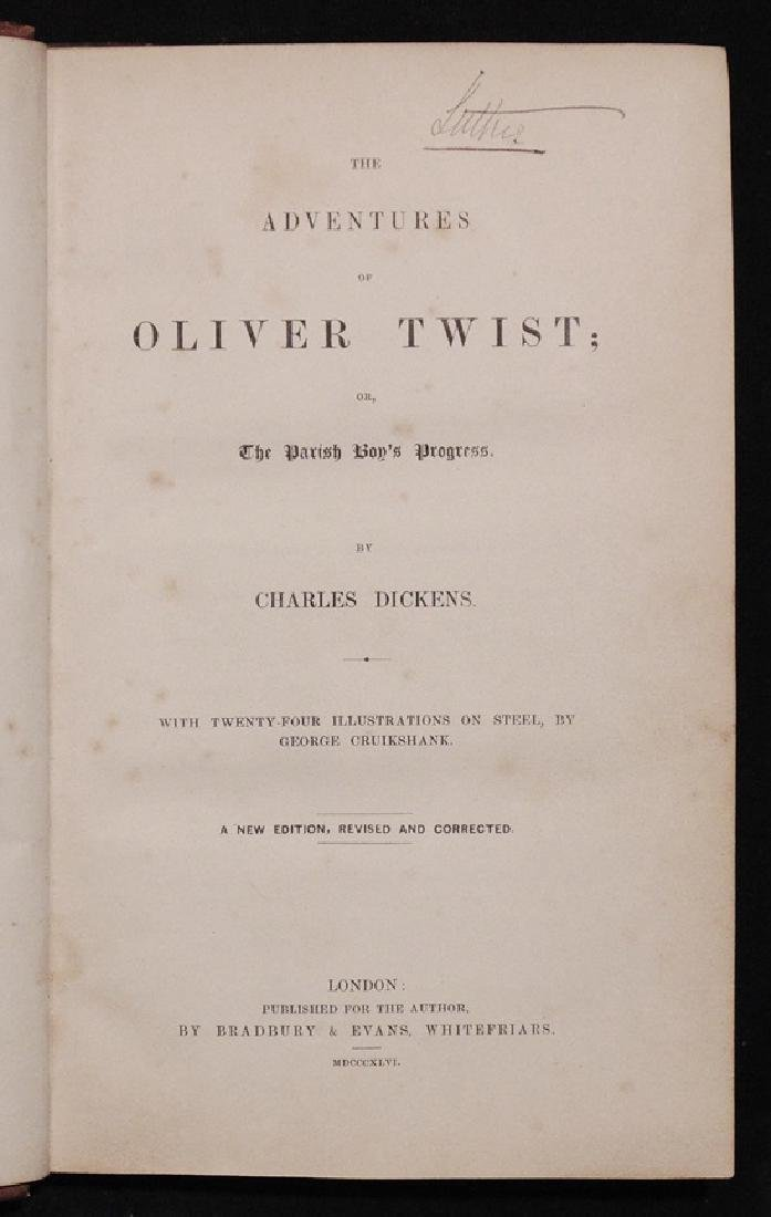 Dickens, Charles.  Oliver Twist, 1st ed. - 3