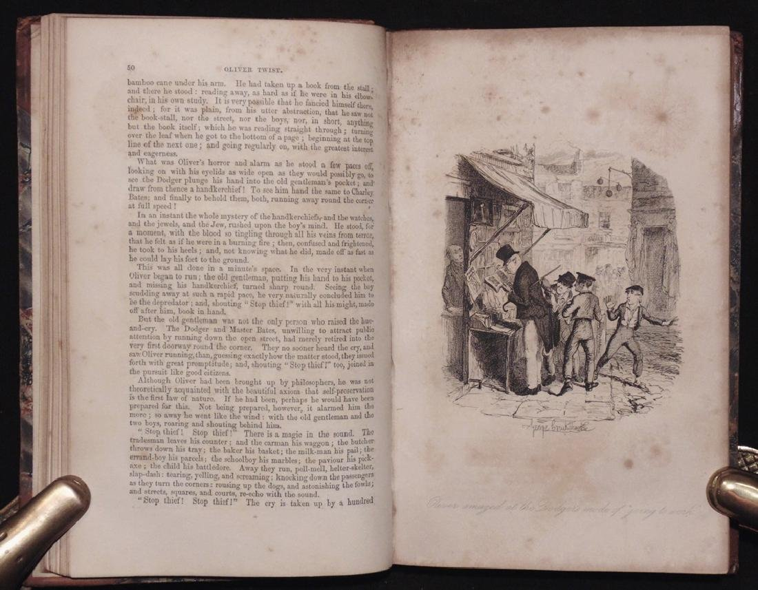 Dickens, Charles.  Oliver Twist, 1st ed. - 8