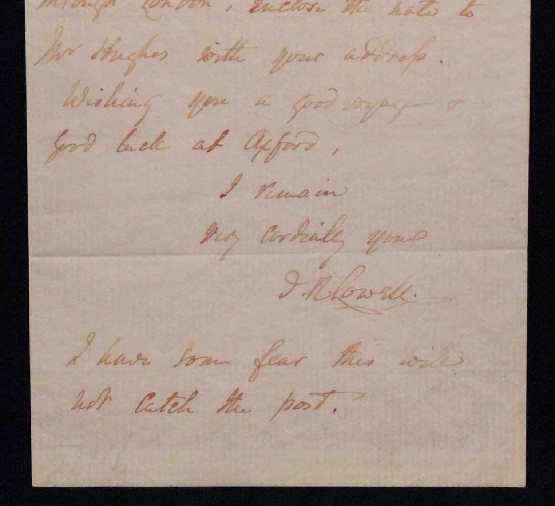 [James Lowell & R. W. Emerson]  Letter Signed - 2
