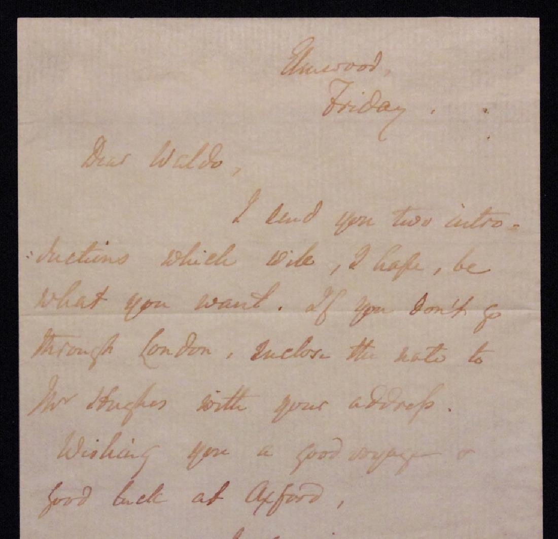 [James Lowell & R. W. Emerson]  Letter Signed - 3
