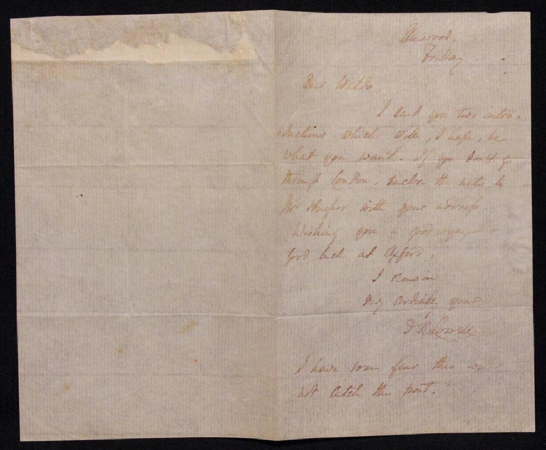 [James Lowell & R. W. Emerson]  Letter Signed - 5